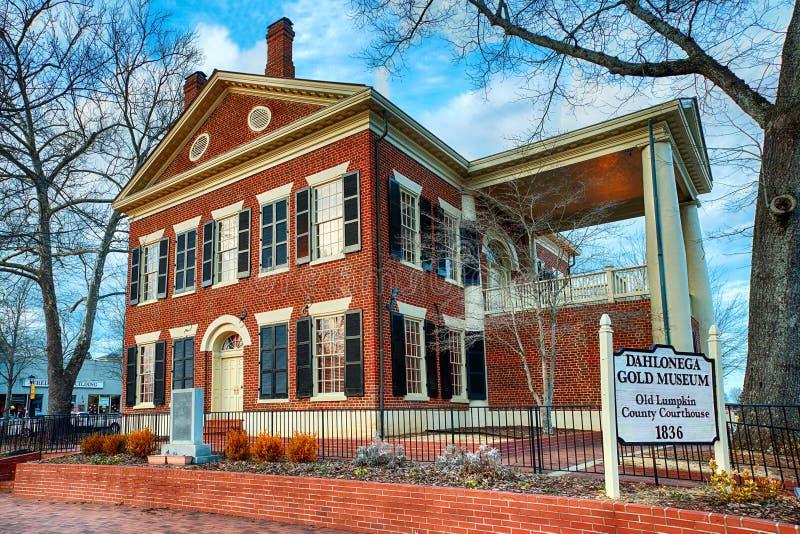 Музей золота в Dahlonega, GA стоковое изображение rf