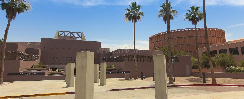 Музей изобразительных искусств государственного университета Аризоны, Tempe, Аризона стоковая фотография rf