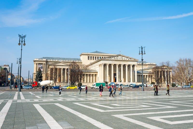 Музей изящных искусств в Будапеште, Венгрии, Европе стоковая фотография