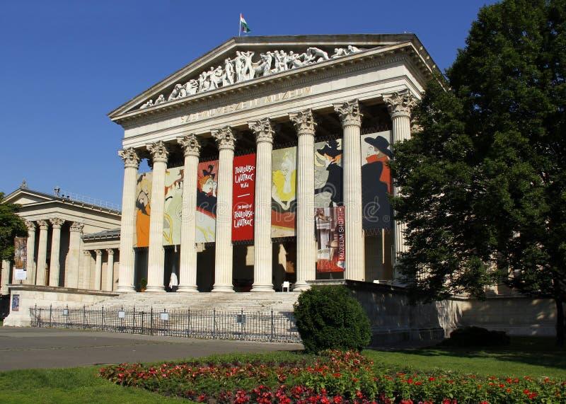 Музей изящных искусств в квадрате героев, Будапеште стоковое изображение rf