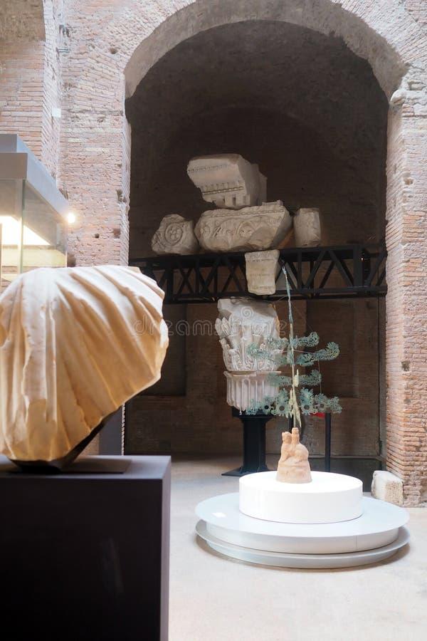 Музей имперских форумов в Риме, Италии стоковое фото rf