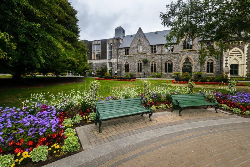 Музей Кентербери и сады, Крайстчёрч, Новая Зеландия стоковое фото