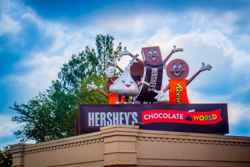 Музей магазина конфеты в Hershey, Пенсильвании стоковые фотографии rf