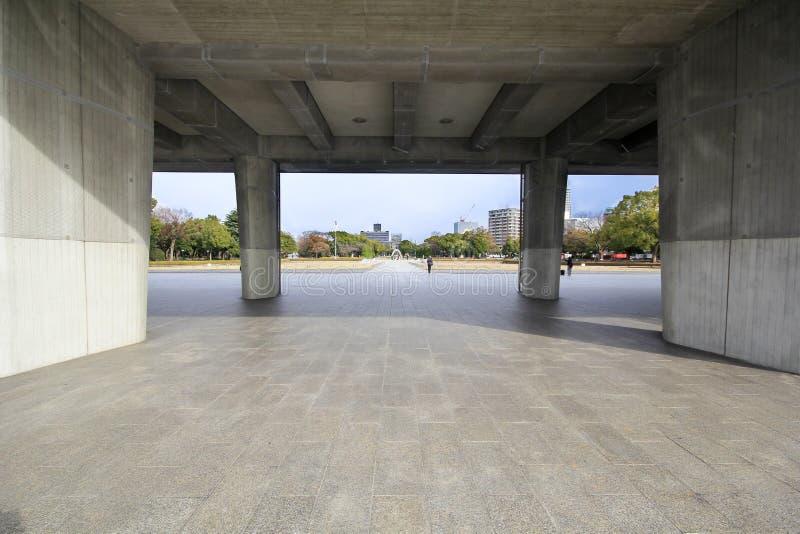 Музей мира мемориальный в Хиросиме, Японии стоковые изображения