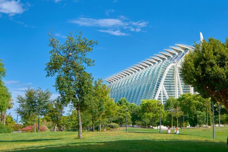 Музей науки Валенсии стоковые фотографии rf