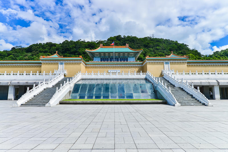 Музей национального дворца в Тайбэе, Тайване стоковая фотография