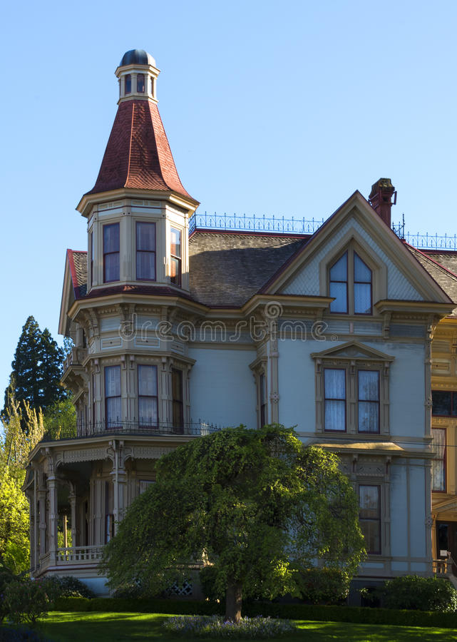 Музей дома Flavel в Astoria, ИЛИ стоковое фото