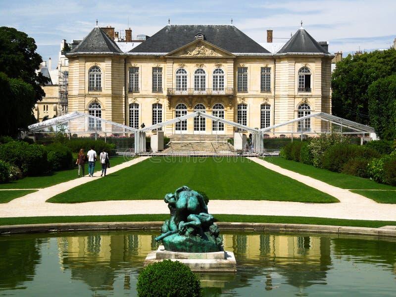 Музей особняка скульптора Rodin, Париж, Франция стоковые фотографии rf
