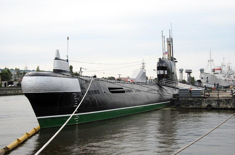 Музей подводной лодки в Калининграде, России стоковое изображение