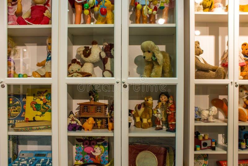 Музей советских игрушек в магазине Москве России центральных детей стоковые изображения