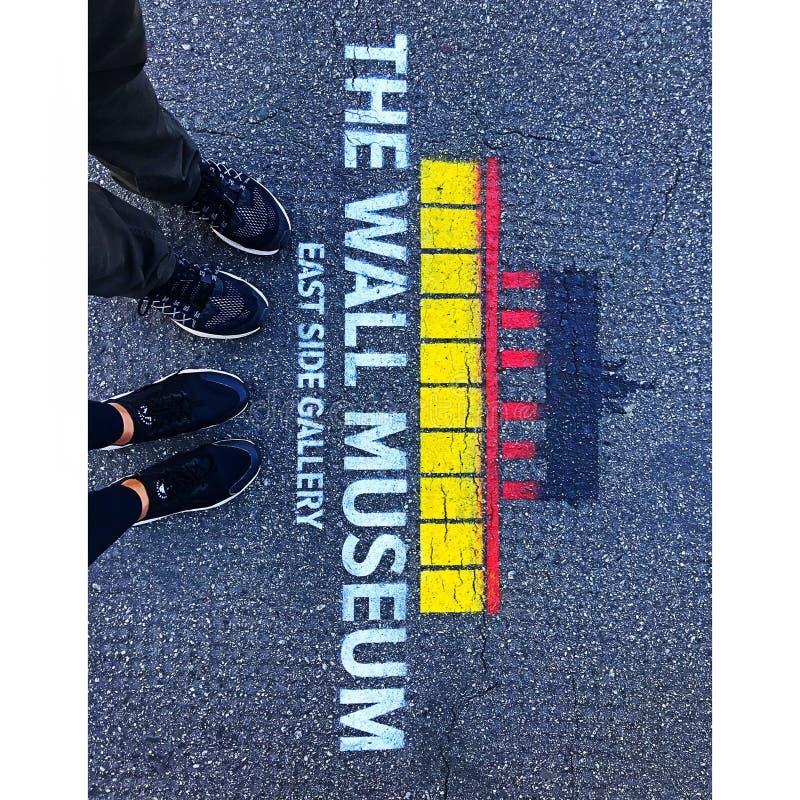 Музей стены, Берлин стоковое изображение rf