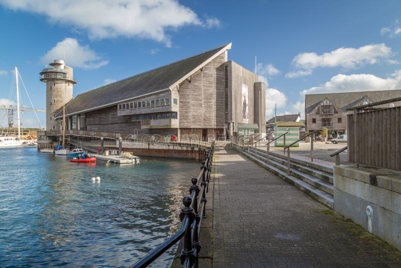 Музей Фолмута морской стоковые фото