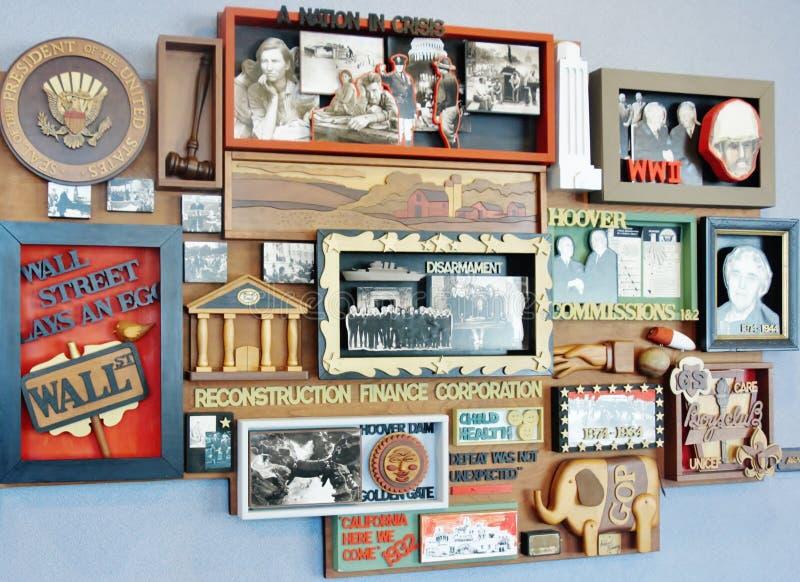 Музей Юерберт Юоовер Айова президентской библиотеки стоковая фотография rf