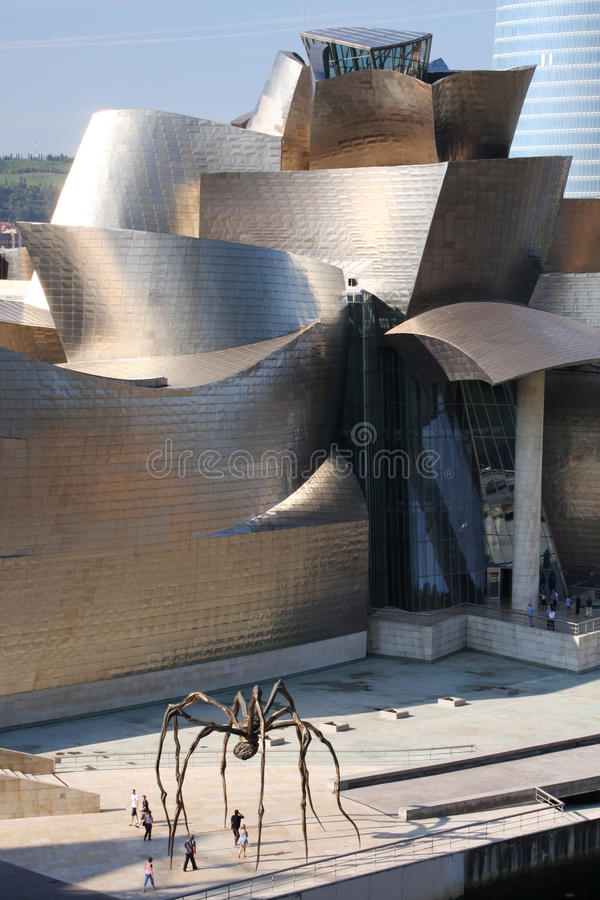 музей bilbao стоковое фото rf