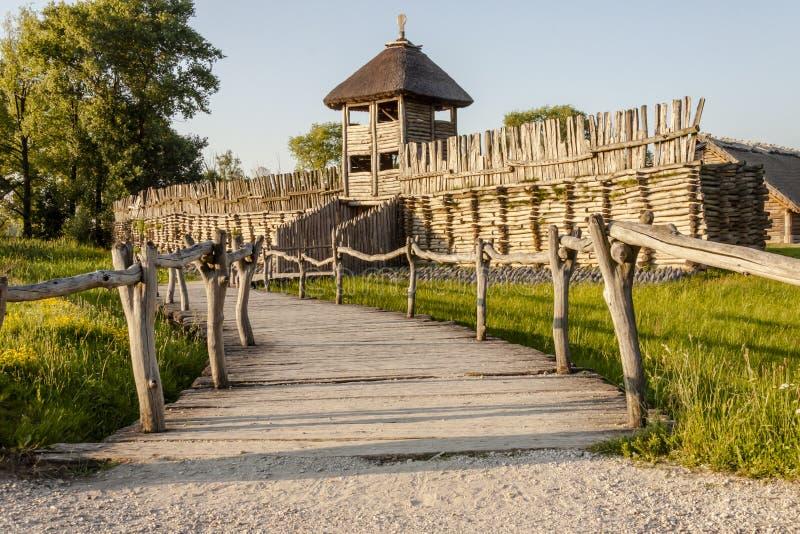 Музей Biskupin археологический - Польша. стоковая фотография