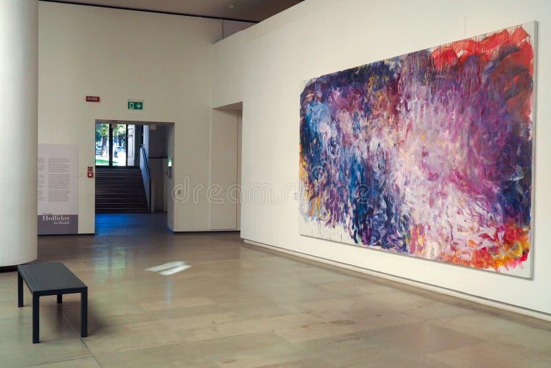 Музей Carlo Bilotti для современного искусства в Риме, Италии стоковая фотография