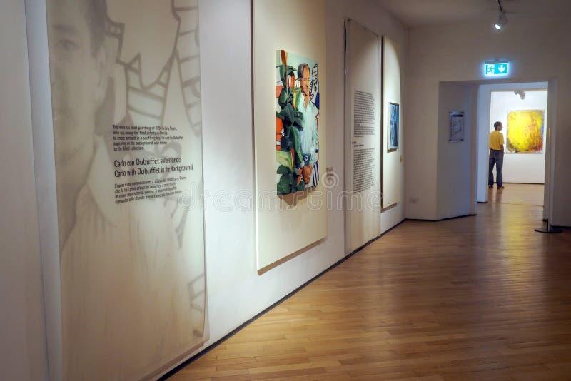 Музей Carlo Bilotti для современного искусства в Риме, Италии стоковые изображения