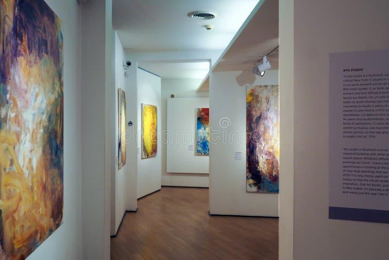 Музей Carlo Bilotti для современного искусства в Риме, Италии стоковые фотографии rf