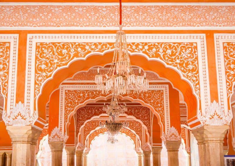 Музей Chandra Mahal в дворце города, Джайпуре, Индии стоковые изображения rf
