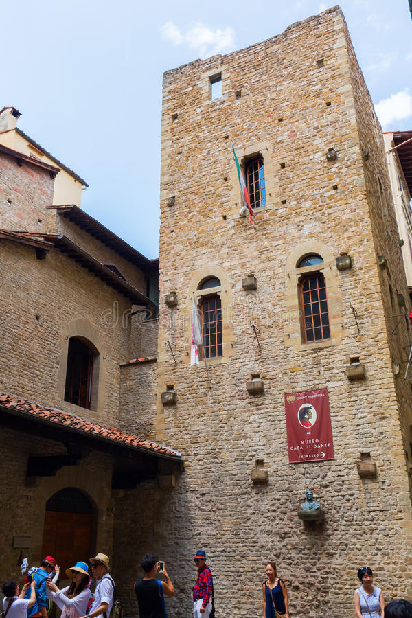 Музей Dante в Флоренсе, Италии стоковое изображение