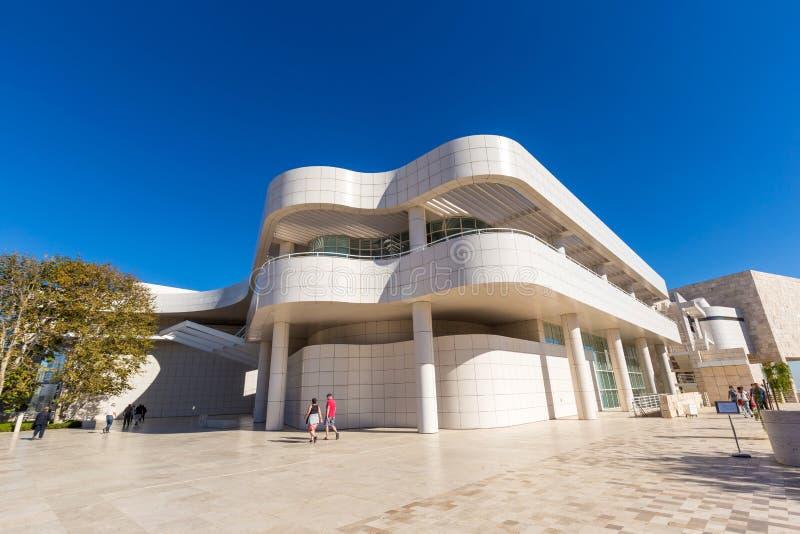 Музей J Музей Пола Getty в Лос-Анджелесе стоковые фотографии rf