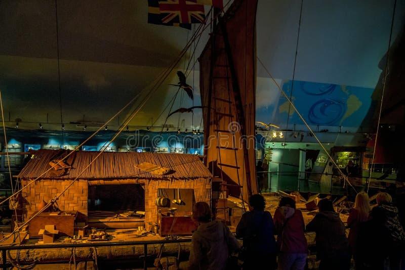 Музей Kon-Tiki в Осло стоковые изображения