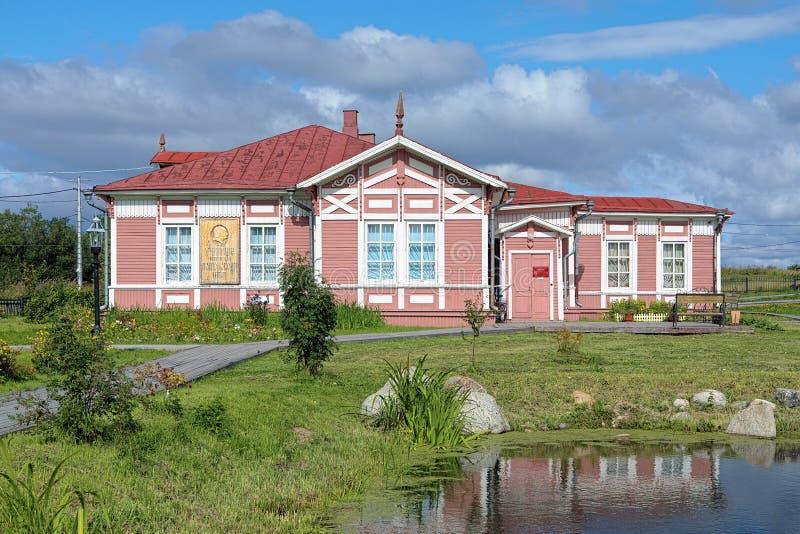 Музей Mikhail Lomonosov в деревне Lomonosovo, России стоковое фото rf