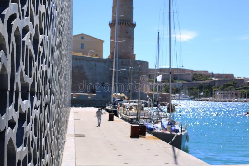 Музей Mucem в марселе стоковое изображение