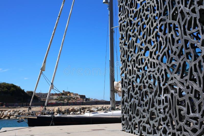 Музей Mucem в марселе стоковая фотография