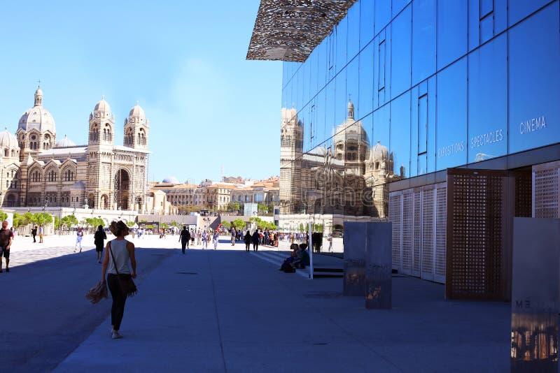Музей Mucem в марселе стоковые изображения
