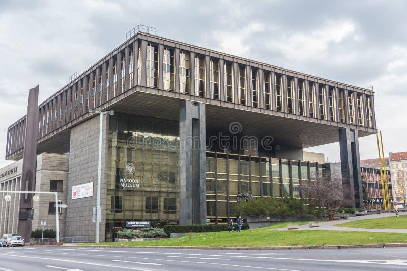 Музей Narodni в Праге стоковое изображение rf