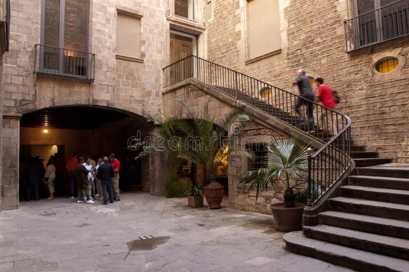музей picasso barcelona стоковая фотография