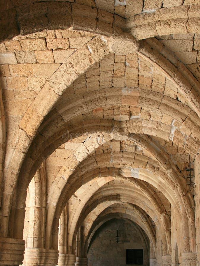 музей rhodes archs стоковая фотография