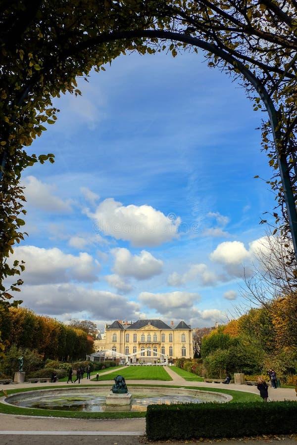 Музей Rodin в Париже Франция стоковые фотографии rf