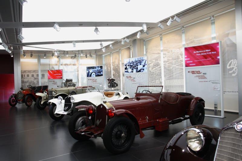 Музей Romeo альфы исторический - Arese MI Италия стоковая фотография