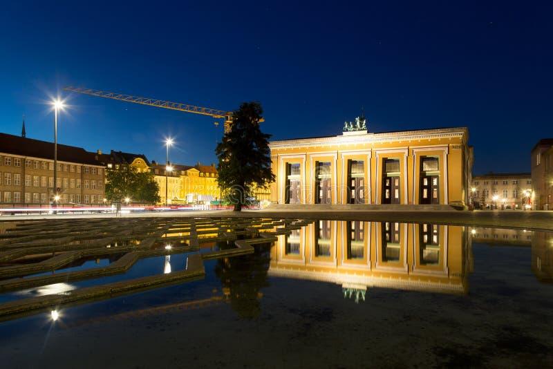 Музей Thorvaldsen в Копенгагене стоковое изображение