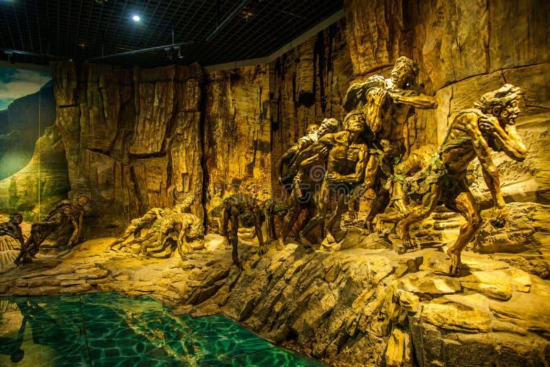 Музей Three Gorges музея Чунцина Three Gorges выставки истории ` Three Gorges ` пышное стоковые фотографии rf