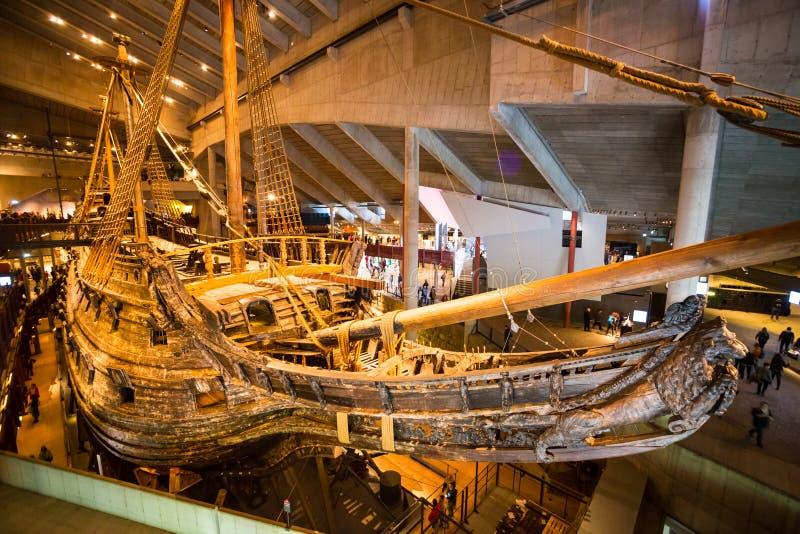 Музей Vasa в Стокгольме, Швеции стоковое фото rf