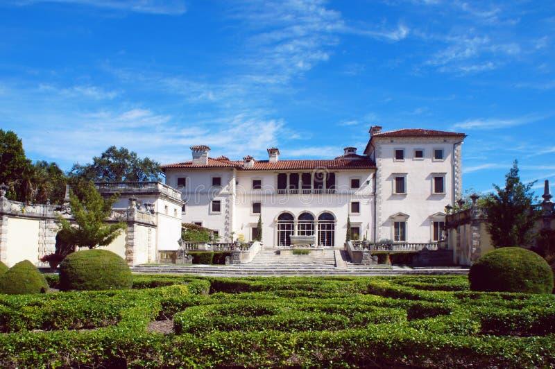 Музей Vizcaya виллы стоковые изображения
