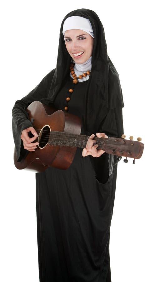музыкальная монахина стоковая фотография rf
