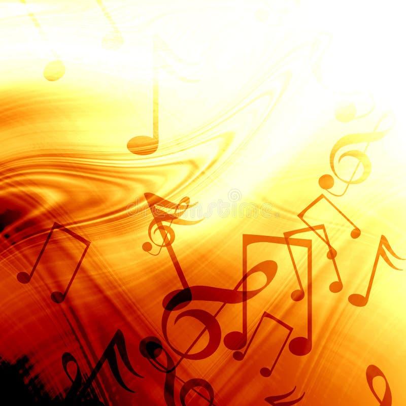 Музыкальная предпосылка иллюстрация вектора