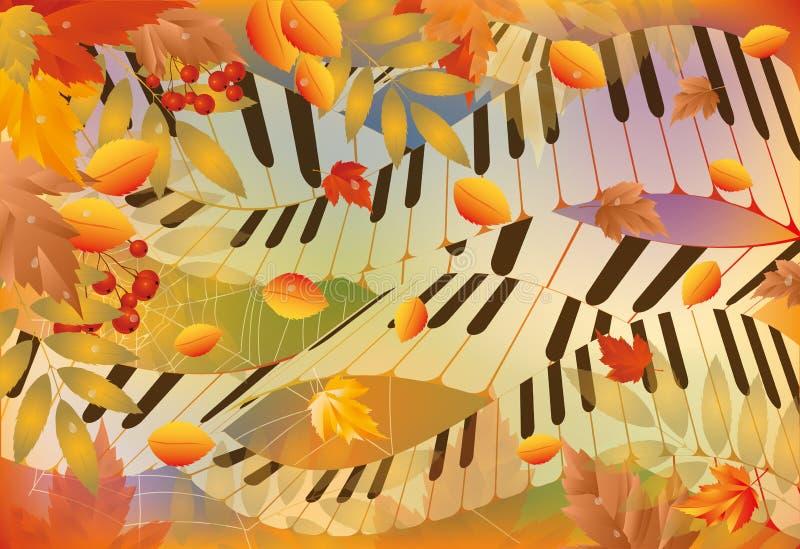 Музыкальное знамя осени иллюстрация штока