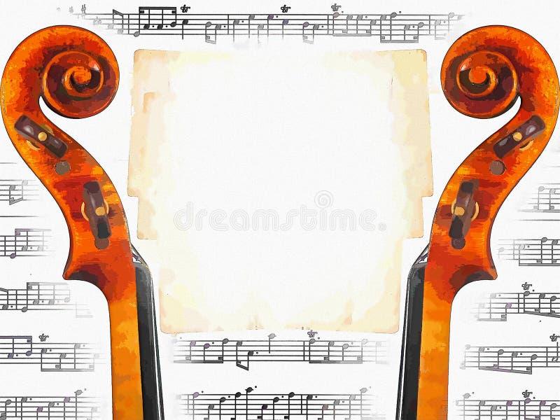 Музыкальное приглашение иллюстрация штока