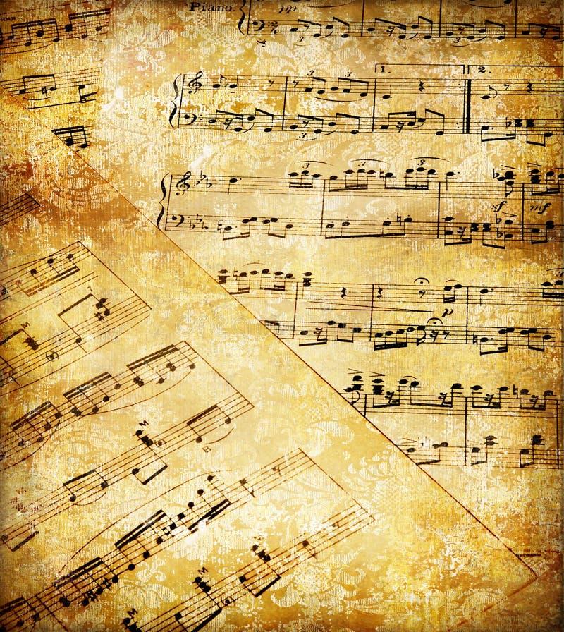 музыкальные бумаги иллюстрация вектора
