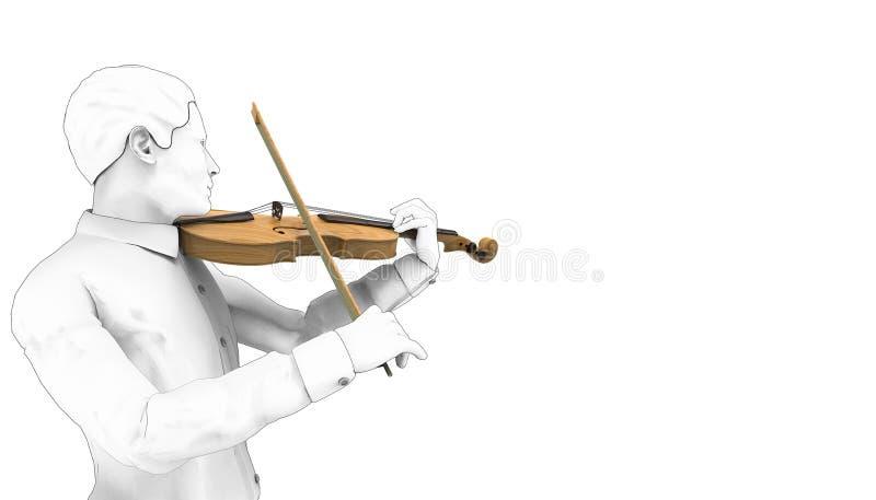 Музыкальные инструменты скрипки игры чертежа 03/предпосылка иллюстрации/изолята иллюстрация вектора
