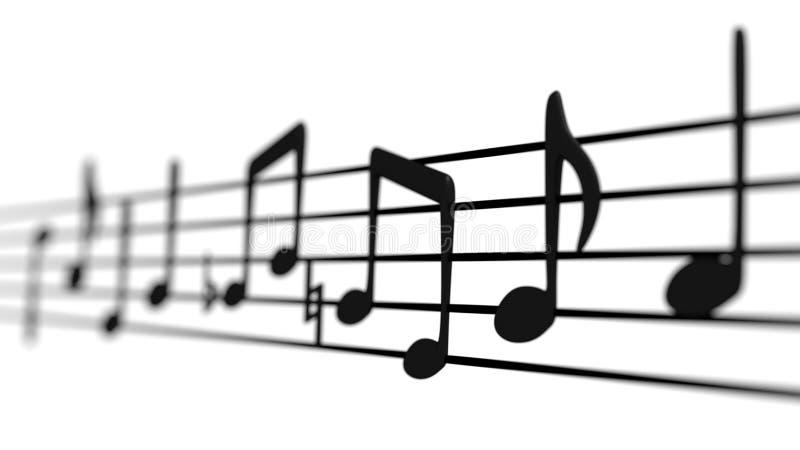 Музыкальные примечания на штате иллюстрация вектора