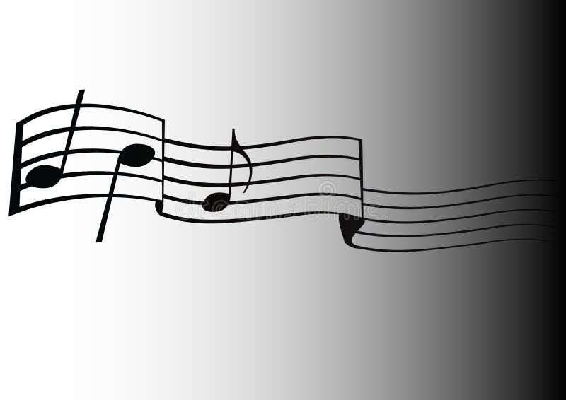музыкальные примечания иллюстрация штока