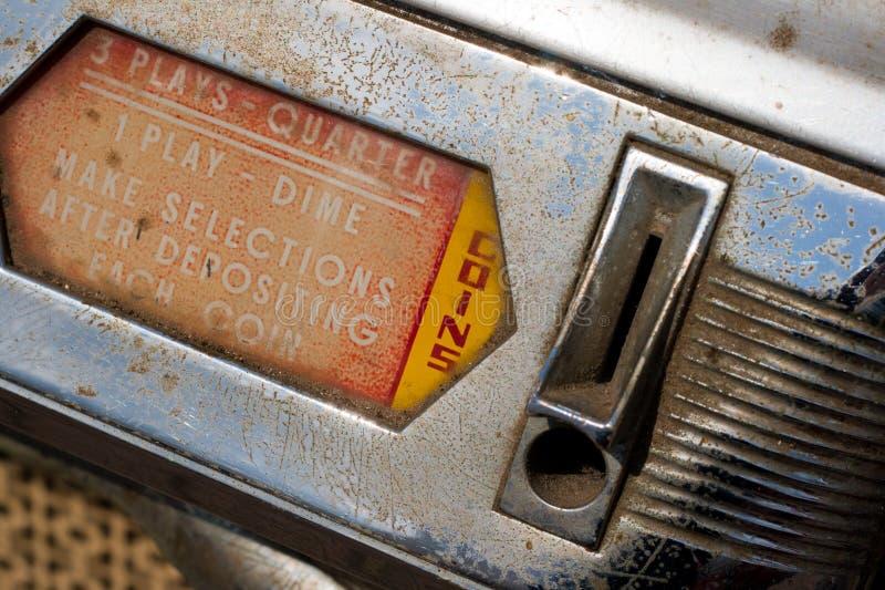 музыкальный автомат монетки стоковые изображения