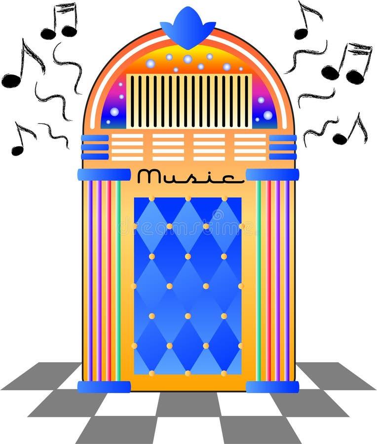 музыкальный автомат eps ретро бесплатная иллюстрация
