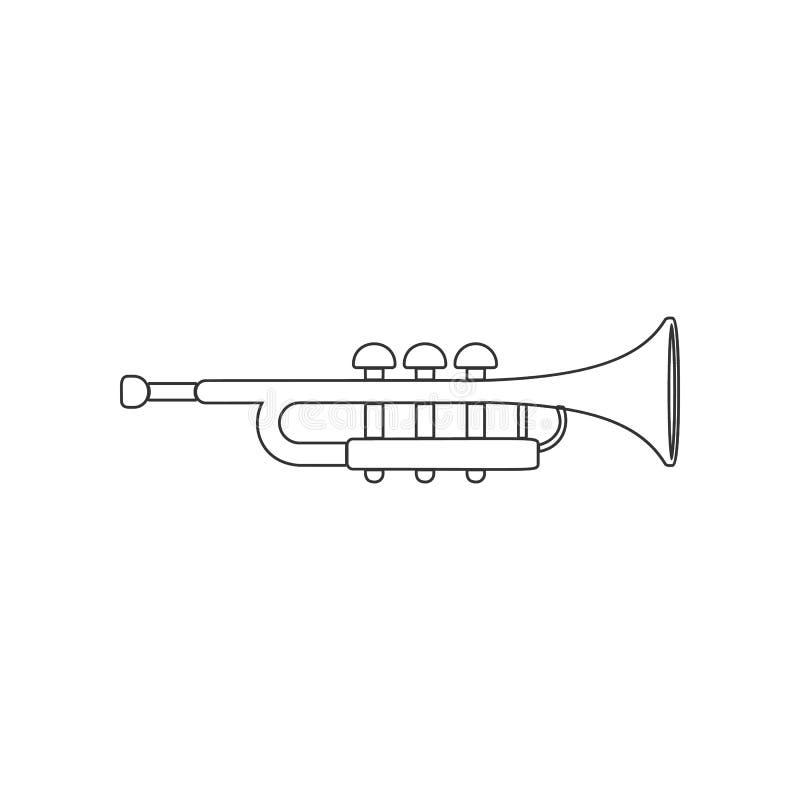 музыкальный значок трубы Элемент зоопарка для мобильных концепции и значка приложений сети r иллюстрация вектора